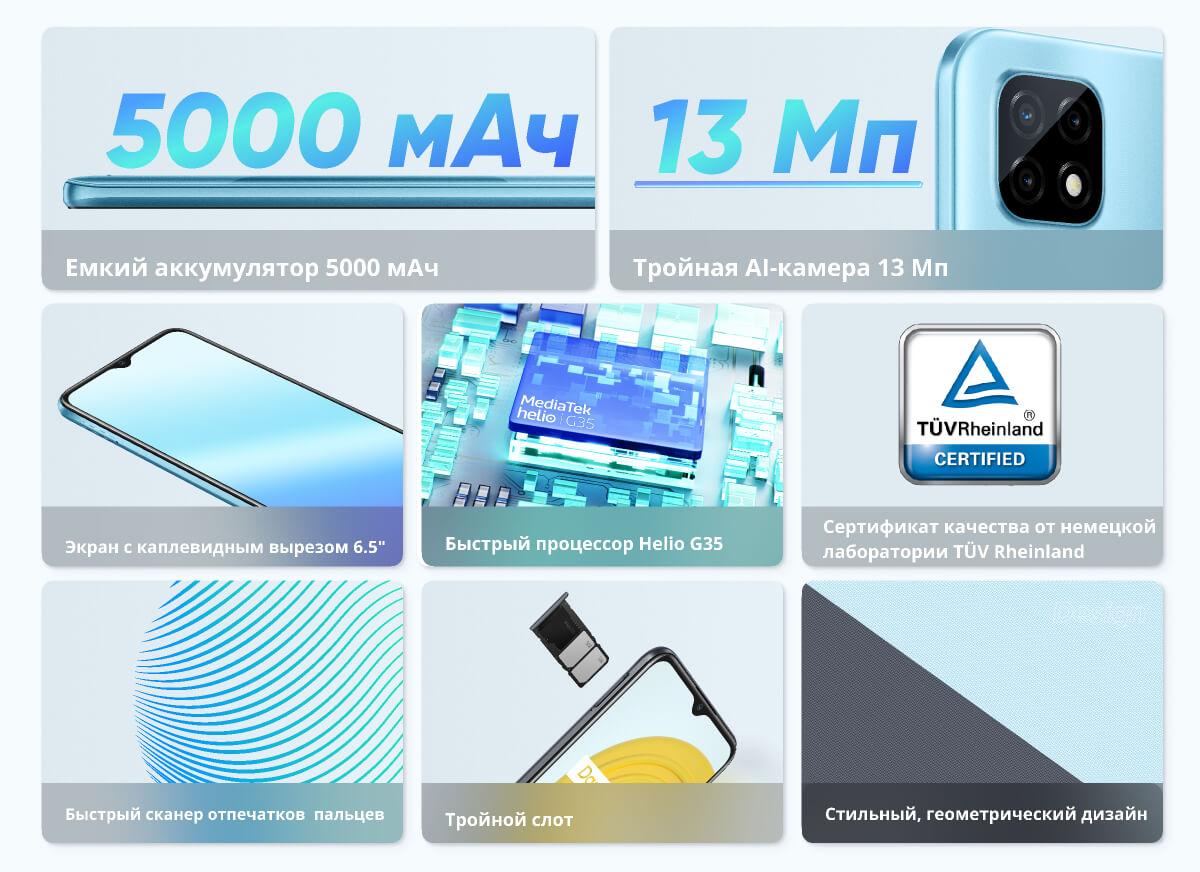 Смартфон Realme C21 4/64 2